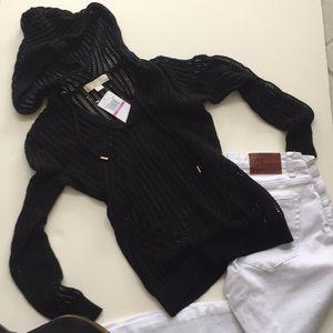 Michael Kors Mesh Crochet Hoodie